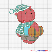 Bear Patterns free Cross Stitch