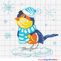 Bullfinch download Cross Stitch for free