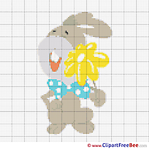 Bunny Design free Cross Stitches