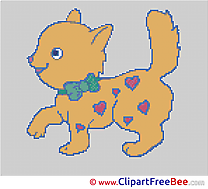 Cat printable Cross Stitches free
