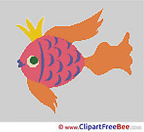 Fish Cross Stitches free