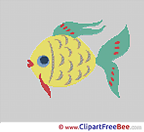 Fish printable Cross Stitches download
