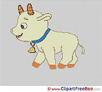 Goat Patterns printable Cross Stitch