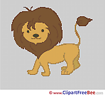 Lion printable Cross Stitches free