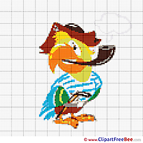 Parrot Cross Stitches download free