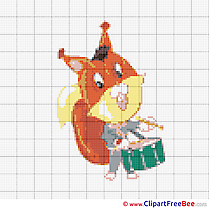 Squirrel Cross Stitches download free