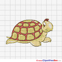 Turtle Design Cross Stitches free