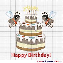 Cake Birthday Cross Stitches free