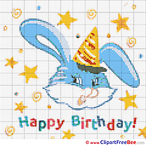 Hare Cross Stitch download Birthday