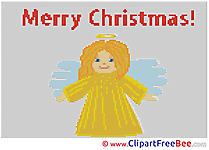 Angel Christmas Cross Stitches free