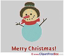 Snowman Patterns Christmas Cross Stitch