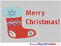 Sock Cross Stitch download Christmas