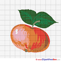 Apple printable Cross Stitch Patterns