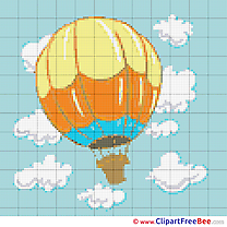 Balloon Sky Cross Stitches free