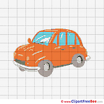 Car printable Cross Stitches for free