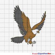 Eagle Design free Cross Stitches