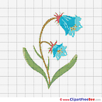 Bluebell printable Cross Stitch Patterns