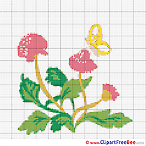 Flowers cross stitch patterns