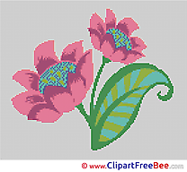 Cross Stitches Flower download free