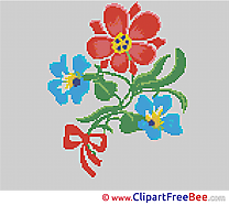 Flower Cross Stitch printable free