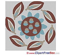 Leaves Flower Cross Stitch download free