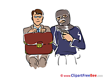 Hostage Bandit Cliparts printable for free