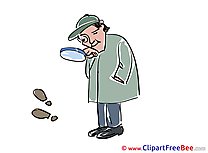 Loupe Clue Detective Clipart free Illustrations