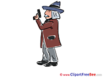 Pistol Detective free Cliparts for download