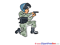 Special Forces Police Pics printable Cliparts