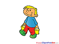 Buckets Boy Pics free Illustration
