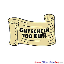 Coupon 100 Euro free printable Cliparts and Images