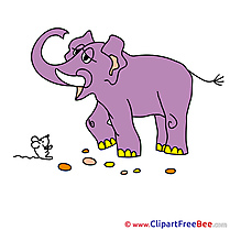 Elephant Pics download Illustration