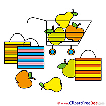 Fruits Supermarket Clipart free Illustrations