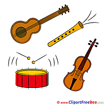 Instruments Music download Clip Art for free
