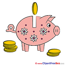 Piggy Bank Clipart free Illustrations