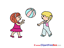 Playing Ball printable Images for download