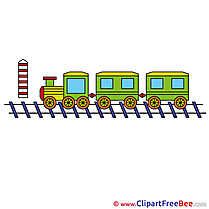 Train printable Illustrations for free