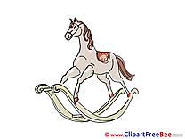 Wooden Horse Pics printable Cliparts