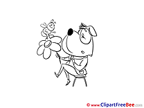 Bee Flower Dog free Images download