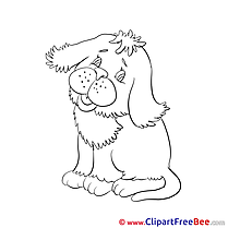 Coloring Clip Art download Dog
