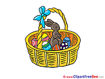 Basket Bunny Eggs download Easter Illustrations