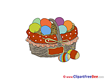Basket Eggs Clip Art download Easter