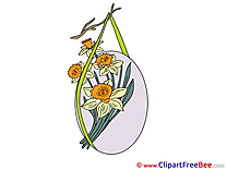Bouquet Flowers Clipart Easter Illustrations