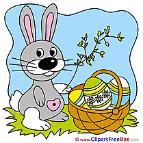 Branch Bunny Clipart Easter Illustrations