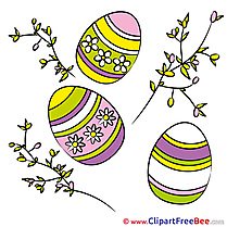 Branches Eggs free Cliparts Easter