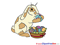 Hare Eggs printable Illustrations Easter