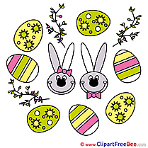 Holiday Bunnies free Cliparts Easter