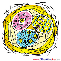 Nest Egg download Easter Illustrations