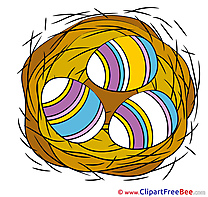 Nest Eggs printable Illustrations Easter
