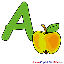 A Apple Alphabet Illustrations for free
